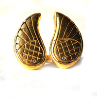 Wings Ring with a Pyrite Stones
