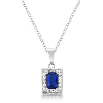 Derie 7mm Emerald Cut Sapphire CZ Fashion Pendant | 1.3 ct