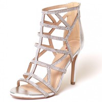 Shimmer Greetings Heel Silver