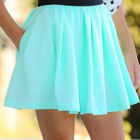 EVERLY:In A Pinch Skirt-Mint
