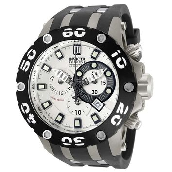 Invicta 12948 Men's Reserve Jason Taylor Specialty Chronograph Silver Dial Dive Watch