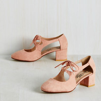 New Orleans Lease on Life Heel in Blush | Mod Retro Vintage Heels | ModCloth.com