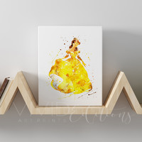 Belle, Beauty and the Beast Gallery Wrapped Canvas