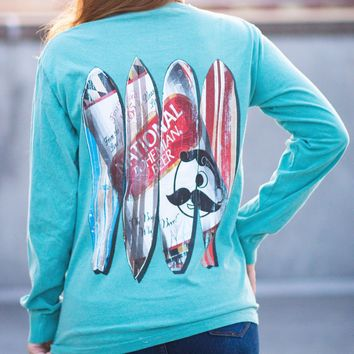 Natty Boh Can Surfboards (Seafoam) / Long Sleeve Shirt