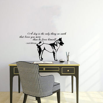 Vinyl Decal Quote About Dog Cute Animal Puppy Pet Shop Housewares Home Wall Art Decor Stylish Sticker Unique Design for Any Room V558