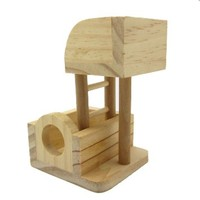 Alfie Lifestyle Small Animal Playground - Wooden Playgym (Toy for Mouse and Dwarf Hamster)