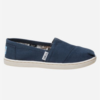 Toms Kids Canvas Classic Slip-Ons Navy  In Sizes