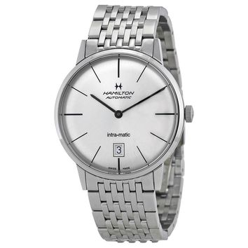 Hamilton Intra-Matic Silver Dial Mens Watch H38455151