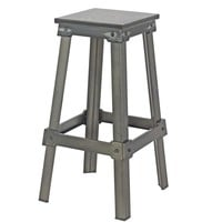 Amelie Bistro Bar Stool Black Steel