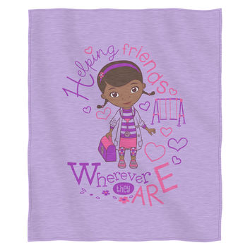 Doc McStuffins -Doc Love Entertainment 50x 60 Sweatshirt Throw