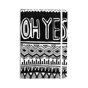 """Vasare Nar """"Oh Yes"""" Black White Everything Notebook"""