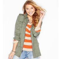 Mudd® Studded Military Jacket - Juniors