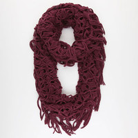 Figure 8 Link Knit Infinity Scarf
