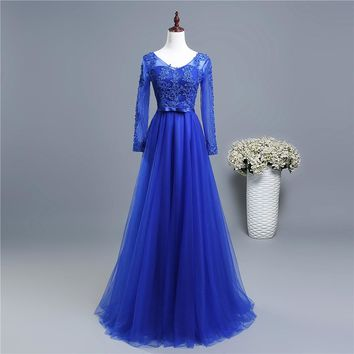 Pretty girl with sleeve elegant party formal Mother of the Bride Dresses