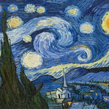 painting by numbers  Landscape Oil Painting On Canvas The Starry Night From Van Gogh canvas painting on the wall cuadros m250