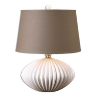 Bariano Gloss White Table Lamp By Uttermost