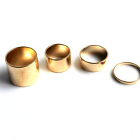 """Four Of A Kind"" Gold Ring Set"