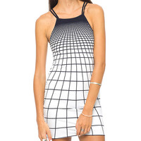 Plaid Spaghetti Strap Bodycon Mini Dress