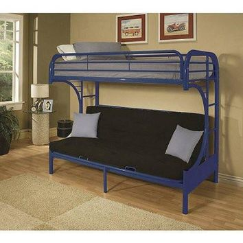 Kids,Teens Twin-Over-Full Futon Metal Bunk Bed Childrens Bedroom Furniture