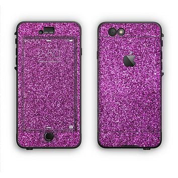 The Purple Glitter Ultra Metallic Apple iPhone 6 LifeProof Nuud Case Skin Set
