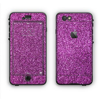 The Purple Glitter Ultra Metallic Apple iPhone 6 Plus LifeProof Nuud Case Skin Set