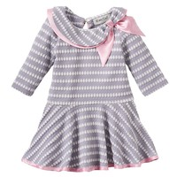 Rare Editions Textured Skater Dress - Baby Girl, Size: