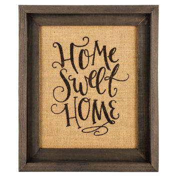 home sweet home framed burlap wall decor hobby lobby