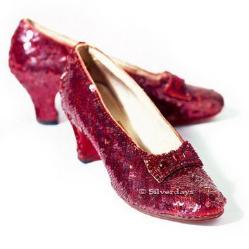 Ruby Slippers from The Wizard of Oz Fine Art by Bunderful on Etsy