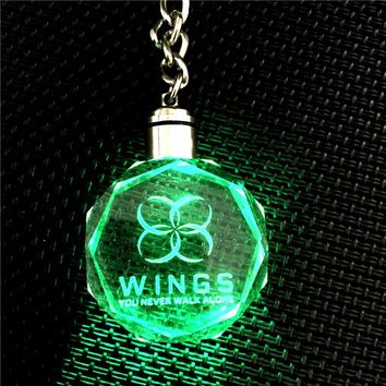 KPOP BTS WINGS YOU NEVER WALK ALONE Bangtan Boys LED Crystal Pendant Model Toy Gift 7021120