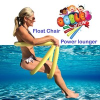 Power Lounger Floating Pool Noodle Water Chair Comfortable and Relaxing Extra Floatation