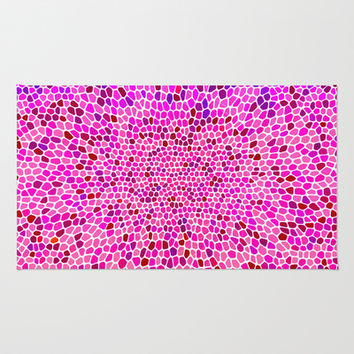 THINK PINK Area & Throw Rug by Catspaws