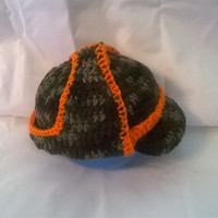 Infant Deerstalker Hunting Hat in Camo and Blaze Orange