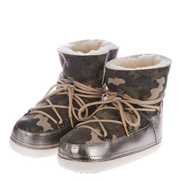 INUIKII Camouflage Ankle Boots - Shoes