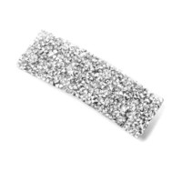 Silver Beads and Crystals Barrette