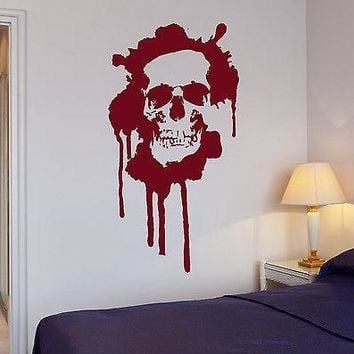 Wall Stickers Blood Horror Skull Death Teen Room Art Mural Vinyl Decal Unique Gift (ig2003)
