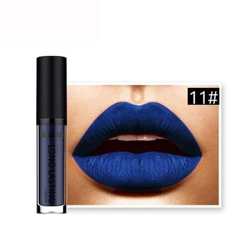 CREYON5U Best Deal 2017 NEW 1pcs Women Fashion Waterproof Dark Blue Matte Liquid Lipstick Long Lasting Lip Gloss Lipstick