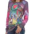 Disney Beauty And The Beast Rose Girls Crew Pullover