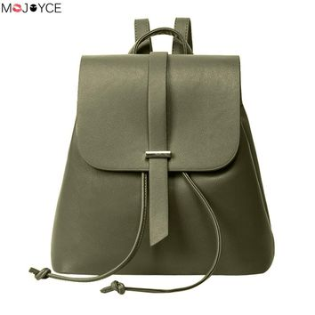 Casual Preppy Chic School Bag for Teenager Girls Female Travel Rucksack Women Fashion PU Leather Backpack Mochila Escolar