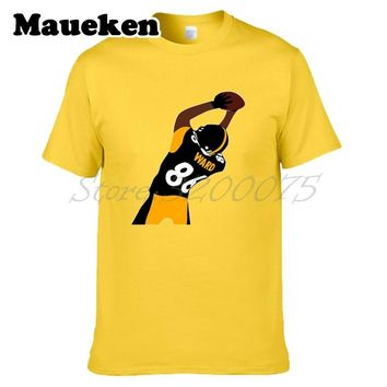 Men Hines Ward 86 MVP Pittsburgh record legend T-shirt Clothes T Shirt Men's tshirt for Steelers fans gift o-neck tee W17112309