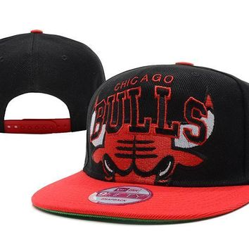 PEAPON Chicago Bulls NBA 9FIFTY Hat Black-Red
