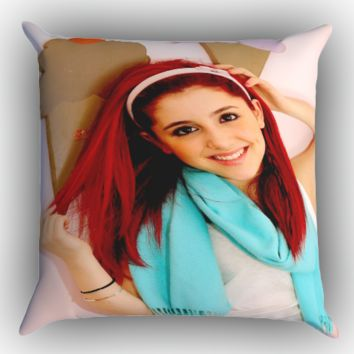 Ariana Grande Red Hair Z1005 Zippered Pillows  Covers 16x16, 18x18, 20x20 Inches