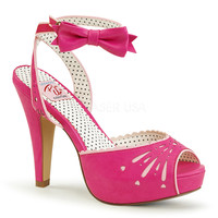 Pin Up Couture Bettie Hot Pink Ankle Strap Sandal