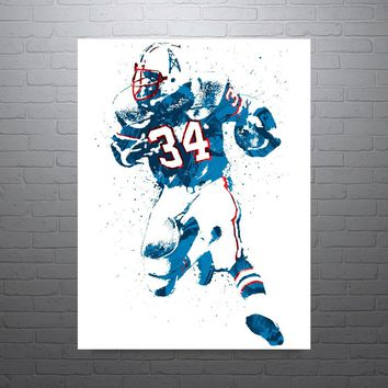 Earl Campbell Houston Oilers Poster