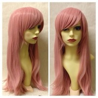 Dusky Pink, Salmon Pink Gothic Lolita Cosplay Wig