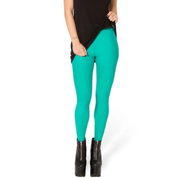 Atomic Mint Stretchy Plain Leggings