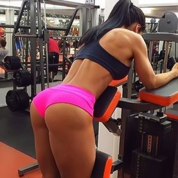 Black Pink Gray Women Gym Compression Booty Shorts Spandex Ladies Volleyball Running lycra Athletic