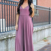 Hint of Pride Jumpsuit - Mauve