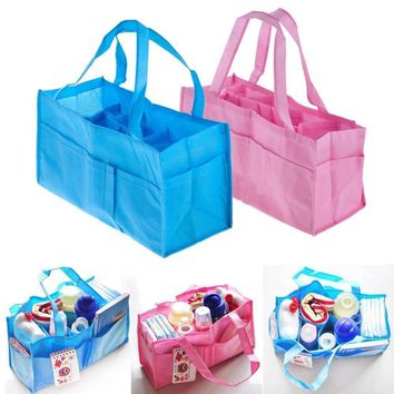 2 Colors Portable Baby Diaper Nappy Changing Bag Inserts Handbag Organizer Pouch Storage Inner