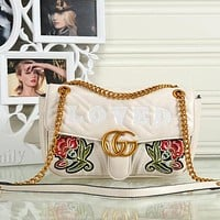 Perfect Gucci Women Fashion Leather Satchel Bag Shoulder Bag Crossbody
