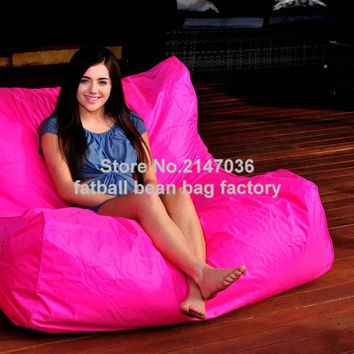 HOT PINK oversize bean bag chair, outdoor waterproof beanbag sofa seat, external and indoor furniture sets
